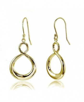 Sterling Silver Infinity Figure 8 Dangle Earrings - CX183MGDX9S
