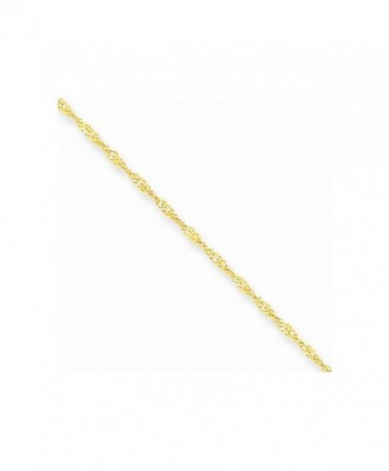 10k Yellow Gold 1.10mm Singapore Chain Necklace 14 Inch - CZ127K2ZCZZ