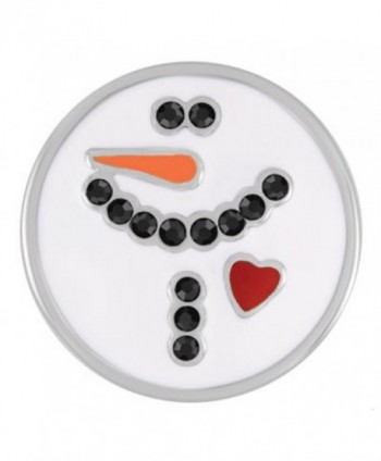 Ginger Snaps WHITE SNOWMAN SN19-27 (Standard Size) Interchangeable Jewelry Accessories - C012ILEOINN