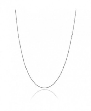 "Solid Italian 925 Sterling Silver Very Thin .7mm Box Chain Necklace All Sizes 14"" - 36"" - CE11DMYXQS1"