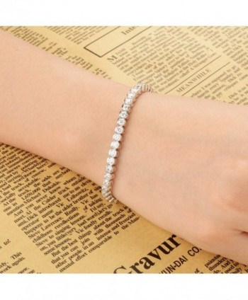 EVER FAITH Sterling Channel Set Bracelet in Women's Tennis Bracelets