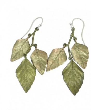 Michael Michaud Retired Autumn Birch 3 Leaf Wire Earrings 3167 BZ Retail Price $78 - C1185HYUAOW