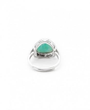 AZIEL Sterling Silver Zirconia Larimar in Women's Statement Rings