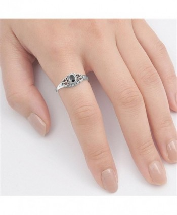 Vintage Simulated Sterling Silver RNG14152 6