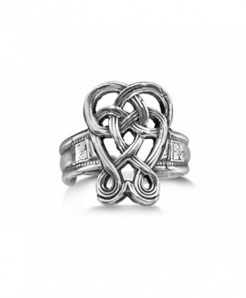 Silver Spoon Unique Knot Adjustable Ring Celtic R - CK1199JBRLL