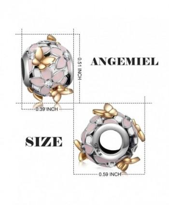 Sterling Magnolia Butterfly European Bracelets
