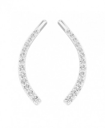 Sterling Diamond Crawler Climber Earrings
