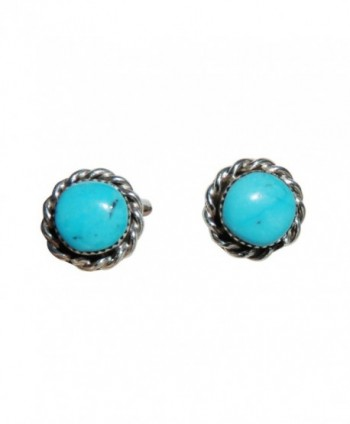 Stabilized Turquoise Earrings Zuni Authentic - CP120T7KE65