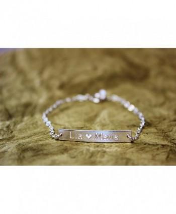 Personalized Bracelet Custom Wedding Coordinates in Women's ID Bracelets