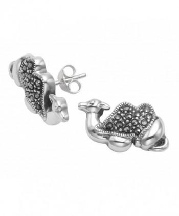 Sterling Silver Marcasite Camel Earrings