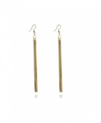 Super Long Wire Tassel Drop Lightweight Women's Dangle Earrings by Dokreil - Golden - CJ186YN58I0