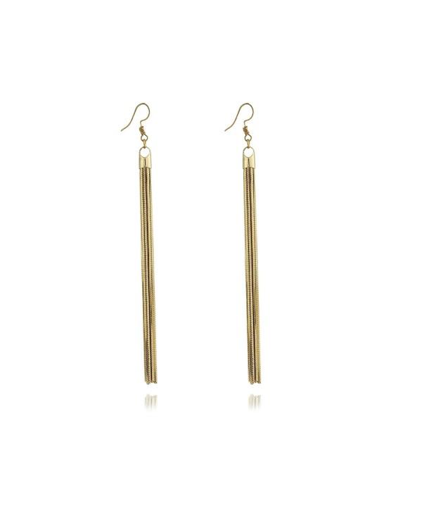 Super Long Wire Tassel Drop Lightweight Women's Dangle Earrings by Dokreil - Golden - CJ186YN58I0