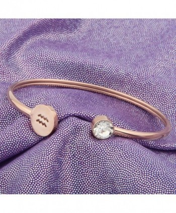 Simple Bracelet Birthstone Birthday Aquarius in Women's Cuff Bracelets
