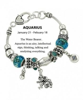 DianaL Boutique Aquarius Horoscope Bracelet