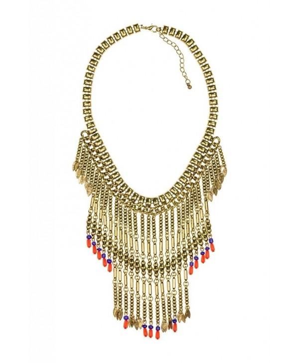 Lux Accessories Fringe Necklace - CU11QDZ6JJT