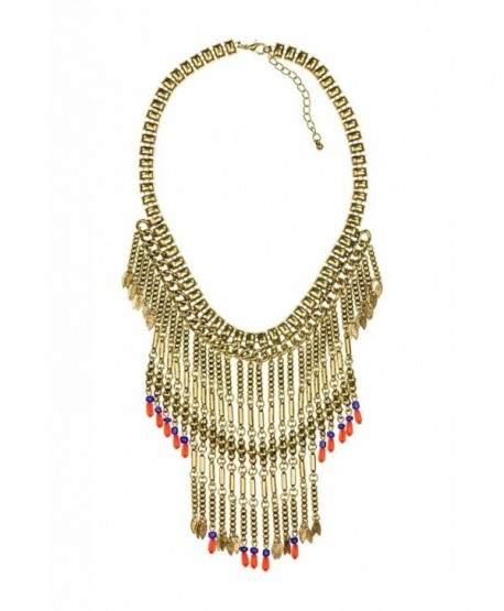 Lux Accessories Fringe Necklace - CU11QDZ6JJT