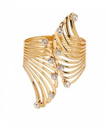 Women Girls Fashion Stylish Jewelry Hollow Wide Open Cut Cuff Bangle Bracelet - C612E5WM36J