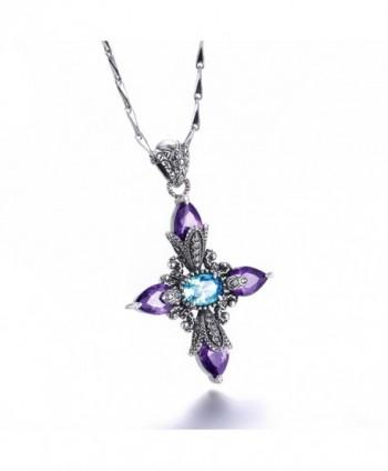 Merthus Created Amethyst Pendant Necklace in Women's Pendants