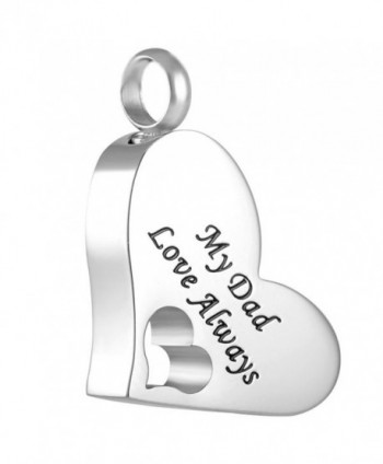 "Peerless Pieces Urn Necklace Cremation Memorial Keepsake Stainless Steel 20"" My Dad Love Always 61 - C6125WDK6RN"