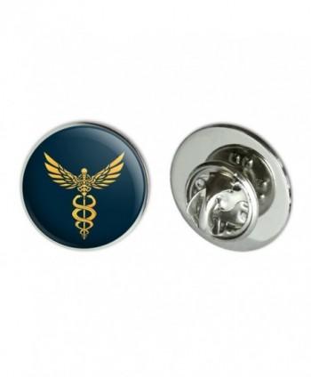 "Caduceus Medical Symbol Doctor Nurse EMT Metal 0.75"" Lapel Hat Pin Tie Tack Pinback - CW184XLKQIC"