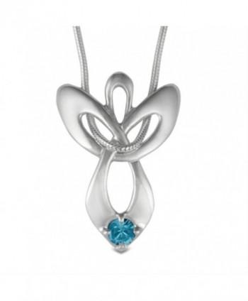 Loving Family Guardian Angel Birth Month Swarovski Crystal Necklace - CL1161QLK2L
