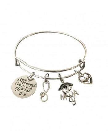 Medical Assistant Bracelet/Charm Bracelet- Nurse Jewelry- Makes Perfect Medical Assistant Gifts - CB185DEL9CN