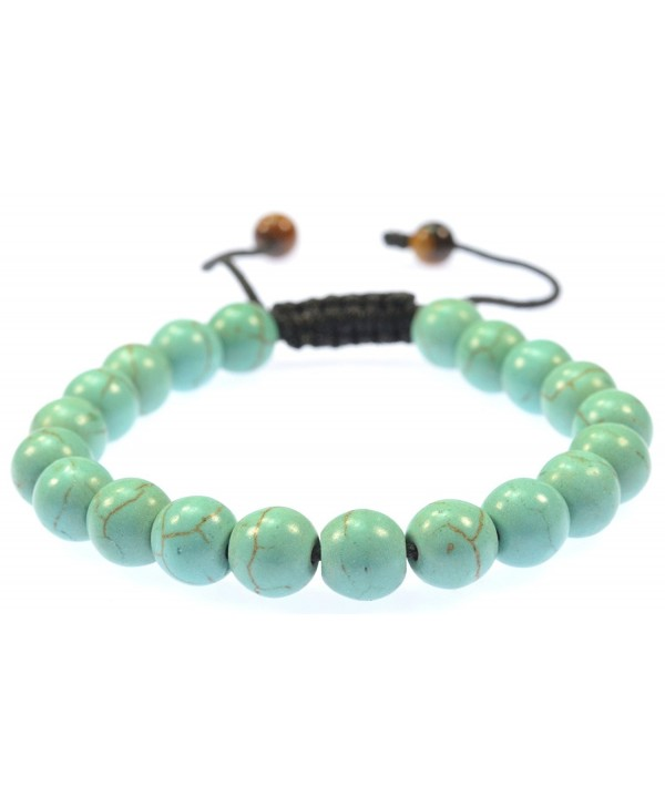 Purple Whale Fashion Jewelry Created-Turquoise Gemstone Bracelet - Good for Healing and Energy - 91025 - CX11C8MN3QD