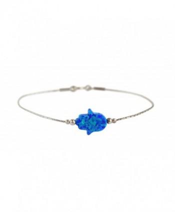 Bracelet Created Judaica Kabbalah Sterling - Blue - CU1827I57SY