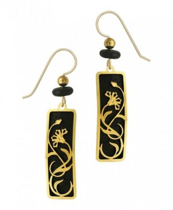 Adajio by Sienna Sky Black Column Floral Filigree Earrings 7439 - C0110I1MKS3