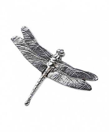 Creative Pewter Designs- Pewter Dragonfly Lapel Pin Brooch- Antiqued Finish- A034 - CV122X660VD