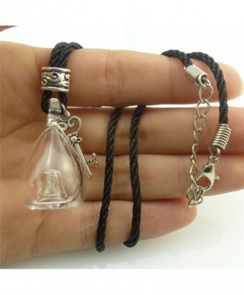 Perfume Bottle Necklace Essential Pendant