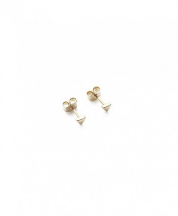 HONEYCAT Tiny Triangle Stud Earrings in Gold- Rose Gold- or Silver | Minimalist- Delicate Jewelry - Gold - CM12KOJV7RX