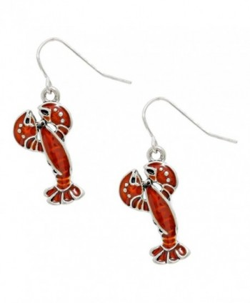 Liavy's Red Lobster Fashionable Earrings - Enamel - Fish Hook - Unique Gift and Souvenir - CS17YG3DHK3