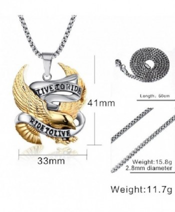 LIVE TO RIDE BIKER PENDANT NECKLACE (BOX CHAIN) - CP12N6K0M04