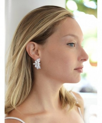 Mariell Wedding Earrings Marquis Cut Clusters