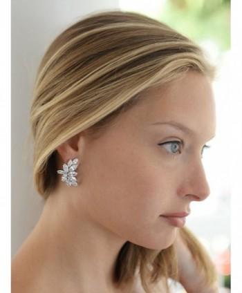 Mariell Wedding Earrings Marquis Cut Clusters in Women's Clip-Ons Earrings