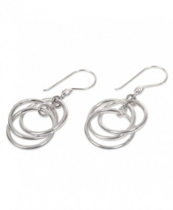 NOVICA Modern Sterling Silver Earrings