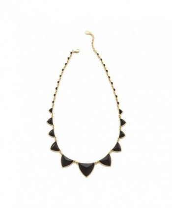 House Of Harlow 1960 Womens Plated Pyramid Station Necklace Black O/S - CA11BB5ITN5