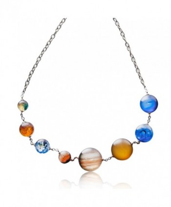Planet Pendant Necklaces Women Double sided - Style3 - CG189L4AKUC
