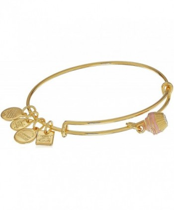 Alex and Ani Charity By Design- Cupcake II EWB Bangle Bracelet - Shiny Gold - CV17YSSLNX0