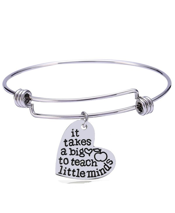 Teachers Gift Bangles It Takes A Heart To Teach Little Minds Bracelets Teacher Jewelry Cr182osilu8