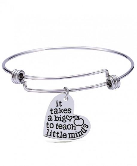 Teachers Gift Bangles It Takes A Big Heart To Teach Little Minds Bracelets Teacher Jewelry - CR182OSILU8