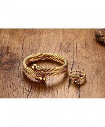 Stainless Double Bracelet Jewelry Plated in Women's Cuff Bracelets