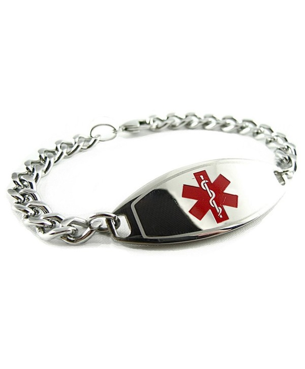 MyIDDr - Pre-Engraved & Customized Blood Thinners Medical Alert Bracelet- Red - CE119GTDQR7