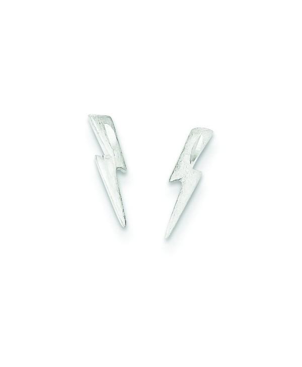 Sterling Silver Lightning Bolt Post Earrings - C611573820H