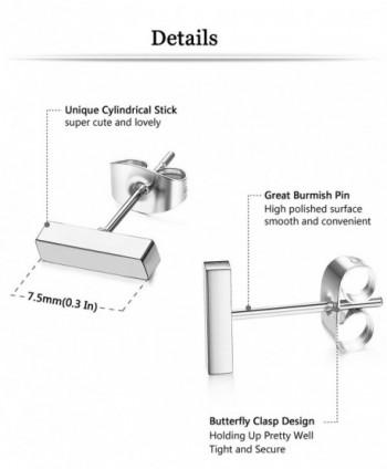 ORAZIO Stainless Earring Earrings Silver tone