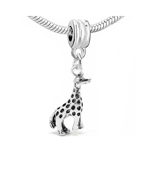 Giraffe 3d Dangle Charm Bead For Snake Chain Charm Bracelet - C311I0ZJ77L