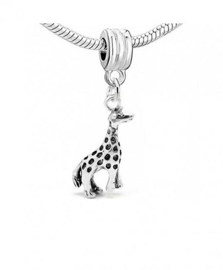 Giraffe 3d Dangle Charm Bead For Snake Chain Charm Bracelet - C311I0ZJ77L
