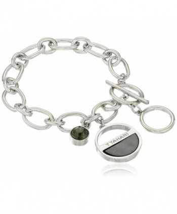 T Tahari Crystal Charm Bracelet - Silver/Grey - CG12EH68ORZ