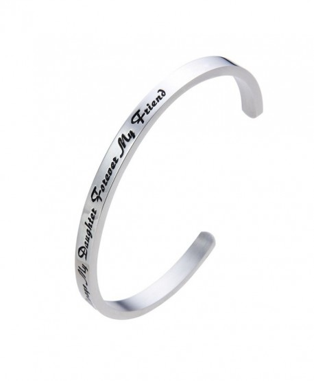 Meibai Daughter Forever Stainless Bracelet - Always My Daughter Forever My Friend - CN1867EOXZG